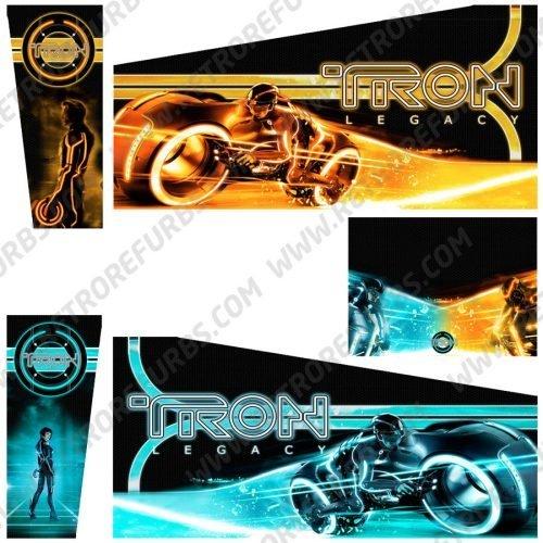 Tron Legacy (Alternate HD) Alternative Pinball Cabinet Decals Flipper Side Art Stern Graphics