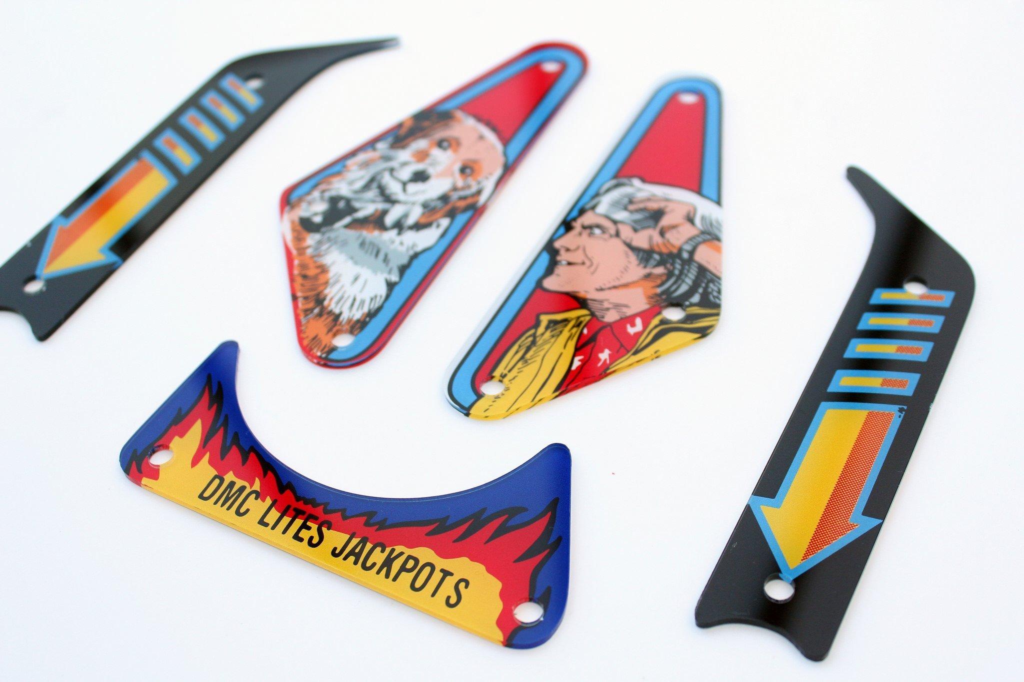 Back To The Future Flipper Pinball Plastics Mini Kit 3