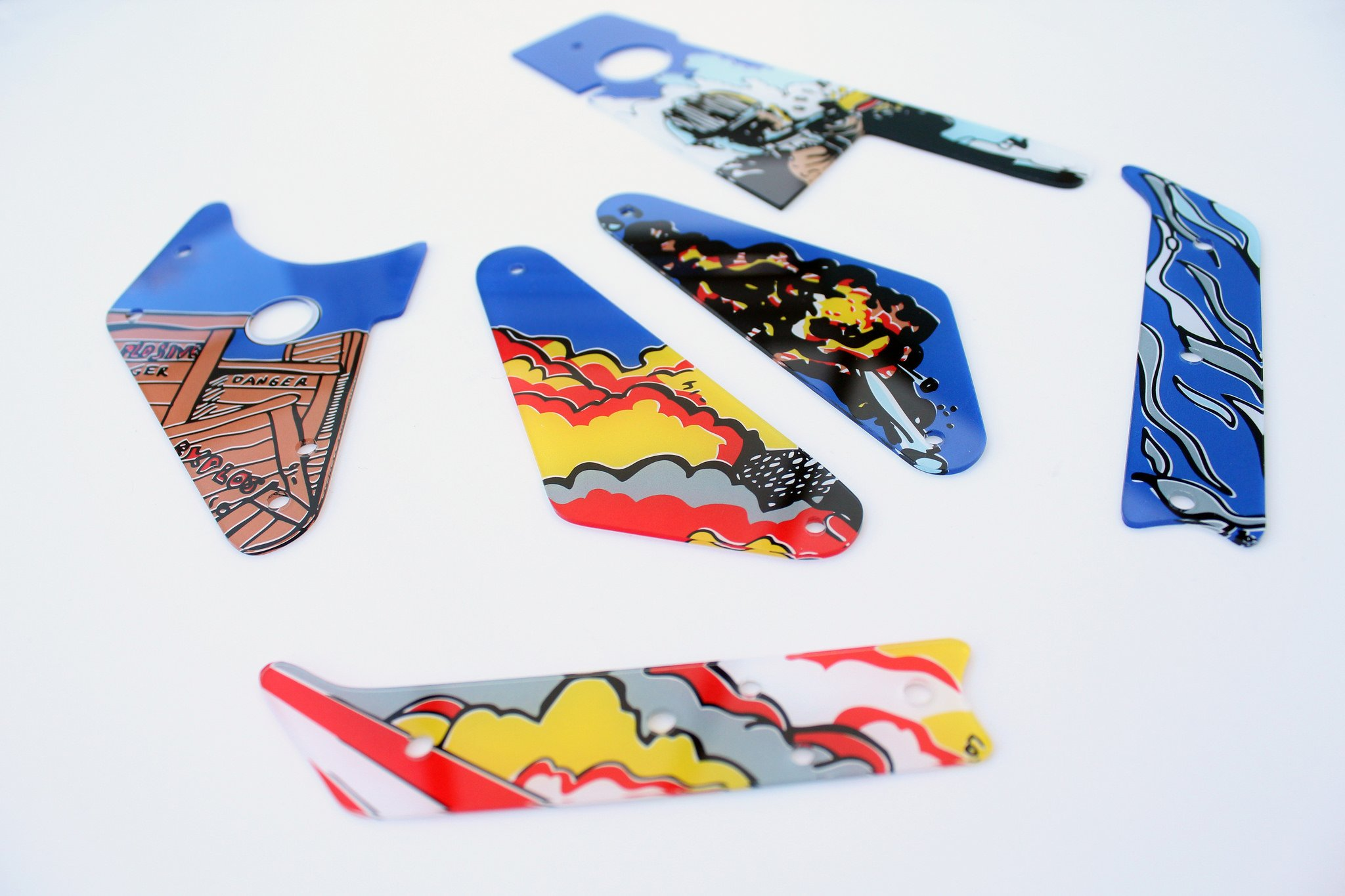 Lethal Weapon 3 Flipper Pinball Plastics Mini Kit 2