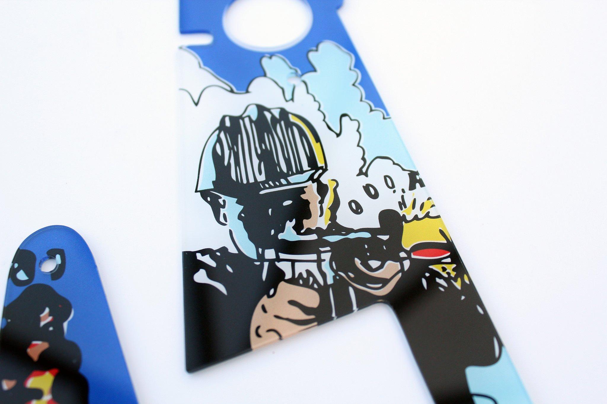 Lethal Weapon 3 Flipper Pinball Plastics Mini Kit 4