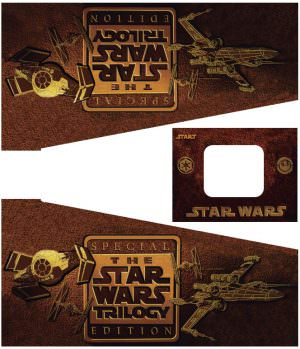 Star Wars Trilogy Pinball Cabinet Decals Flipper Side Art