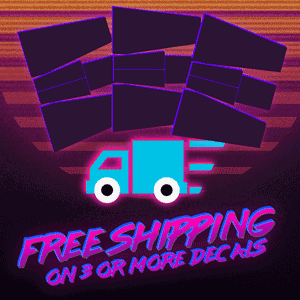 Free Shipping on 3 or more decals