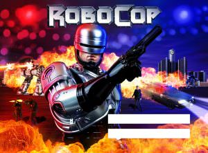 Robocop Alternate Pinball Translite Flipper Backglass Action Edition