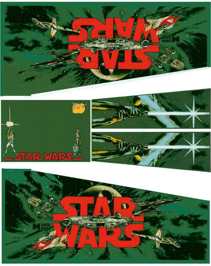 Star Wars Yoda Edition Pinball Cabinet Decals Flipper Side Art