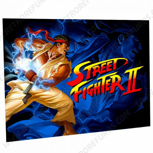 Street Fighter Ryu Edition Alternate Pinball Translite Alternative Flipper Backglass