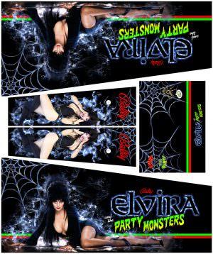 Elvira Alternate Pinball Cabinet Decals Alternative Flipper Side Art
