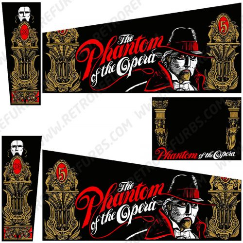 Phantom Of The Opera Pinball Cabinet Decals Flipper Side Art