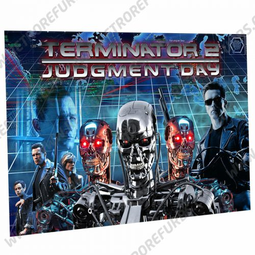 Terminator 2 Alternate Pinball Translite Flipper Backglass
