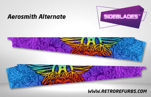 Aerosmith Alternate Pinball SideBlades Inside Decals Sideboard Art Pin Blades