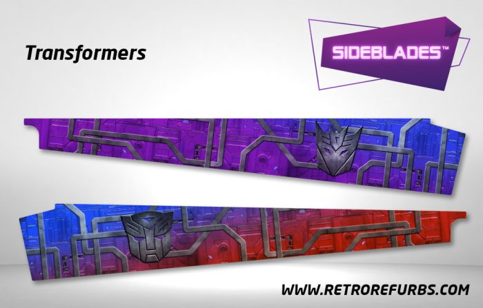 Transformers Pinball SideBlades Inside Decals Sideboard Art Pin Blades