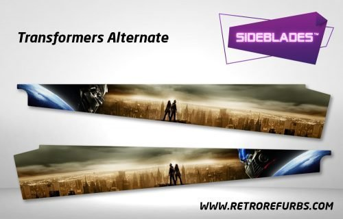 Transformers Alternate Pinball SideBlades Inside Decals Sideboard Art Pin Blades