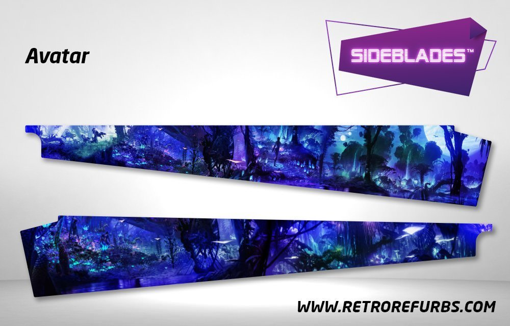 Avatar Pinball SideBlades Inside Decals Sideboard Art Pin Blades