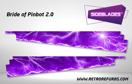 Bride of Pinbot 2.0 Pinball Sideblades Inside Decals Sideboard Art Pin Blades for BOP2.0