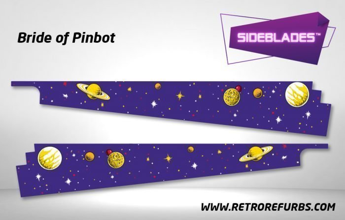 Bride of Pinbot Pinball Sideblades Inside Decals Sideboard Art Pin Blades for BOP
