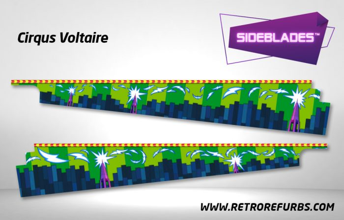 Cirqus Voltaire Pinball Sideblades Inside Decals Sideboard Art Pin Blades