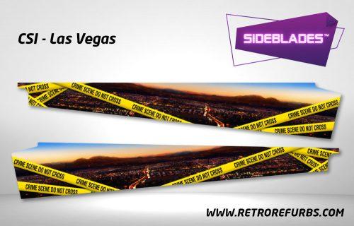 CSI Las Vegas Pinball SideBlades Inside Decals Sideboard Art Pin Blades