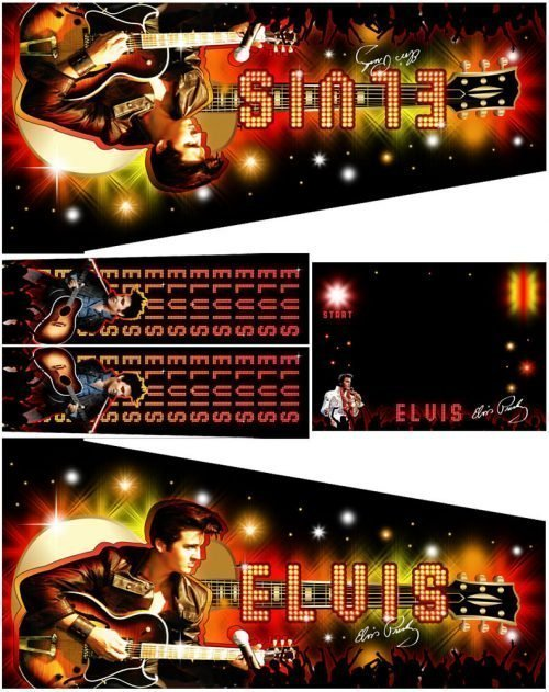 Elvis Pinball Cabinet Decals Custom Side Art Alternate Flipper Artwork