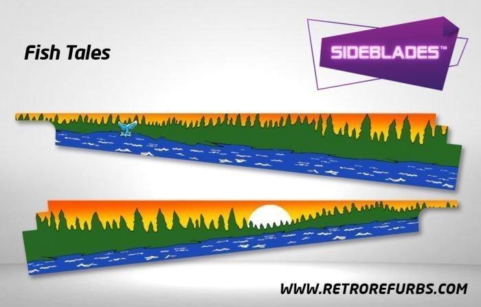 Fish Tales Pinball Sideblades Inside Decals Sideboard Art Pin Blades
