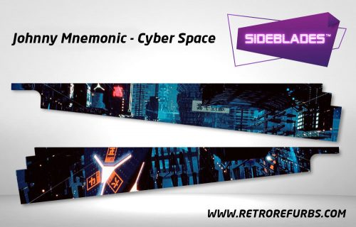 Johnny Mnemonic Cyber Space Pinball Sideblades Inside Decals Sideboard Art Pin Blades