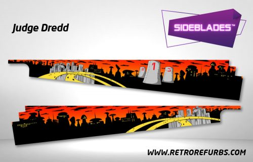 Judge Dredd Pinball Sideblades Inside Decals Sideboard Art Pin Blades
