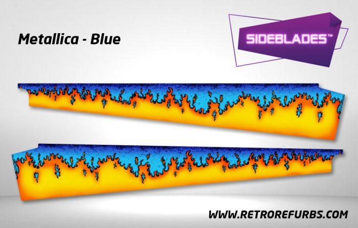 Metallica Blue Pinball SideBlades Inside Decals Sideboard Art Pin Blades
