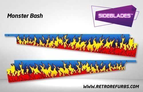 Monster Bash Pinball Sideblades Inside Decals Sideboard Art Pin Blades
