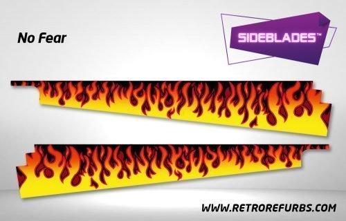 No Fear Pinball Sideblades Inside Decals Sideboard Art Pin Blades