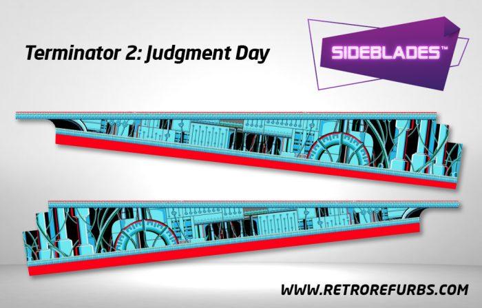 Terminator 2 Pinball Sideblades Inside Decals Sideboard Art Pin Blades