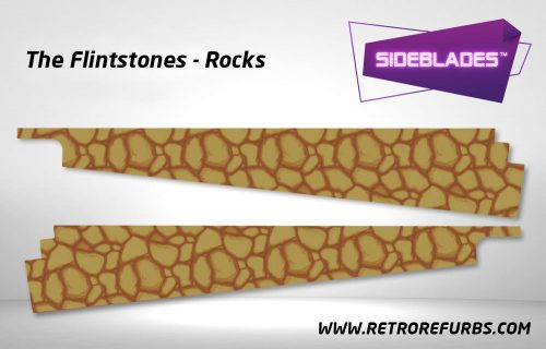 The Flintstones Rocks Pinball Sideblades Inside Decals Sideboard Art Pin Blades
