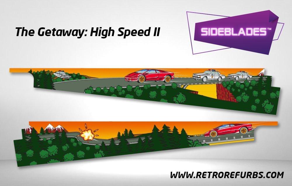 The Getaway High Speed II Pinball Sideblades Inside Decals Sideboard Art Pin Blades