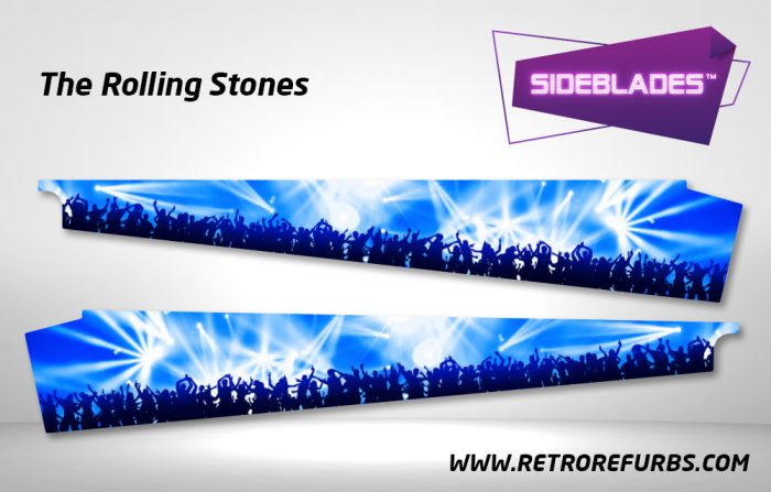 The Rolling Stones Pinball SideBlades Inside Decals Sideboard Art Pin Blades