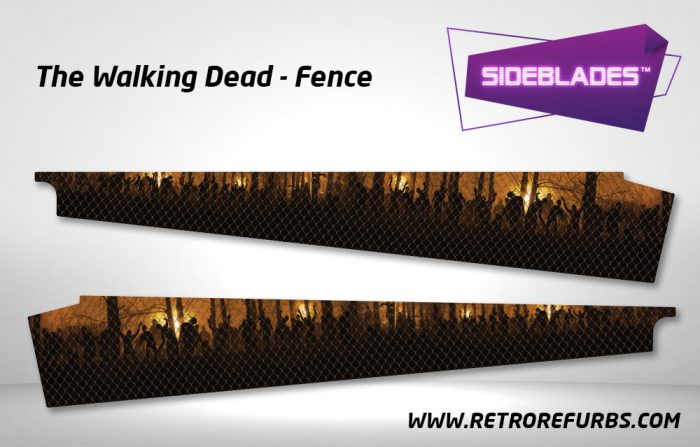 The Walking Dead Fence Pinball Sideblades Inside Decals Sideboard Art Pin Blades