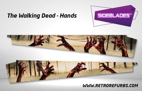 The Walking Dead Hands Pinball Sideblades Inside Decals Sideboard Art Pin Blades
