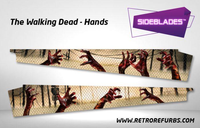 The Walking Dead Hands Pinball Sideblades Inside Decals Sideboard Art Pin Blades