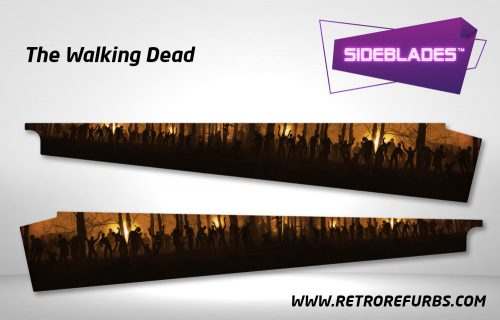 The Walking Dead Pinball Sideblades Inside Decals Sideboard Art Pin Blades