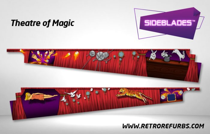 Theatre of Magic Pinball Sideblades Inside Decals Sideboard Art Pin Blades