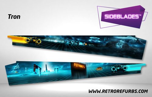 Tron Legacy Pinball SideBlades Inside Decals Sideboard Art Pin Blades