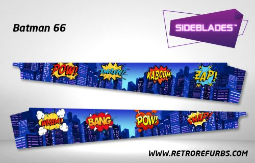 Batman 66 Pinball Sideblades Inside Decals Sideboard Art Pin Blades
