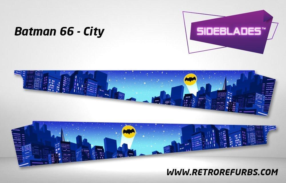 Batman 66 City Pinball Sideblades Inside Decals Sideboard Art Pin Blades