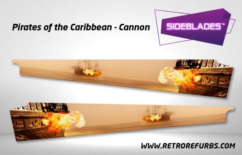 Pirates of The Caribbean Cannon Pinball Sideblades Inside Decals Sideboard Art Pin Blades