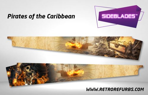 Pirates of The Caribbean Pinball Sideblades Inside Decals Sideboard Art Pin Blades