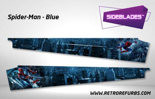 Spider Man Blue Pinball Sideblades Inside Decals Sideboard Art Pin Blades