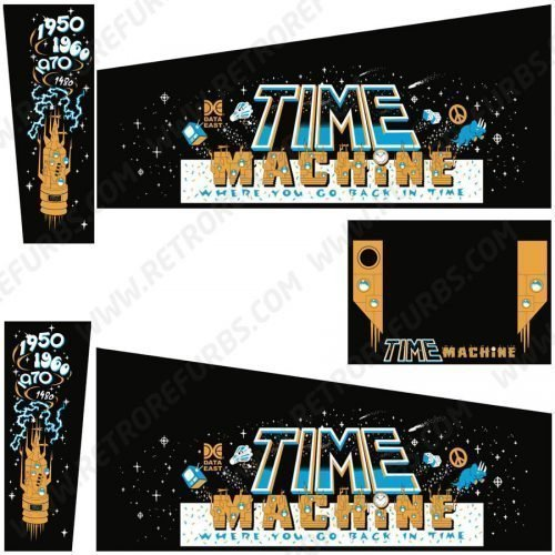 Time Machine Pinball Cabinet Decals Flipper Side Art Data East