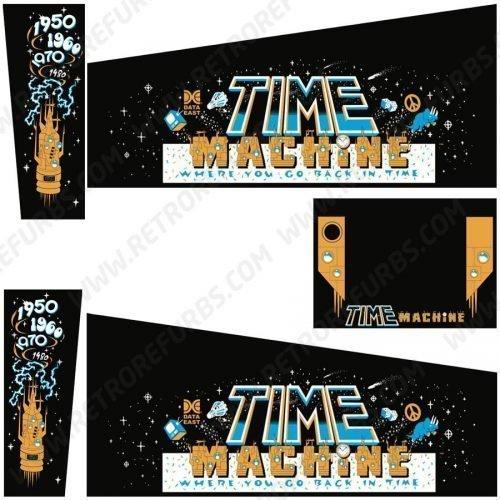 Time Machine Pinball Cabinet Decals Flipper Side Art Data East