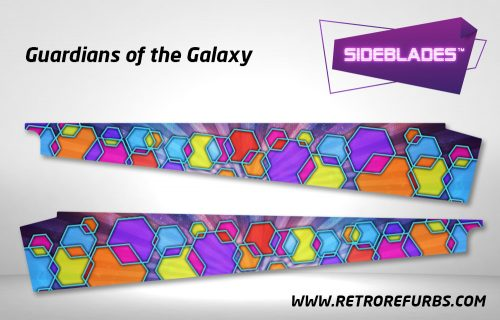 Guardians of the Galaxy Pinball Side Blades Inside Decals Sideboard Art Pin Blades Game Blades