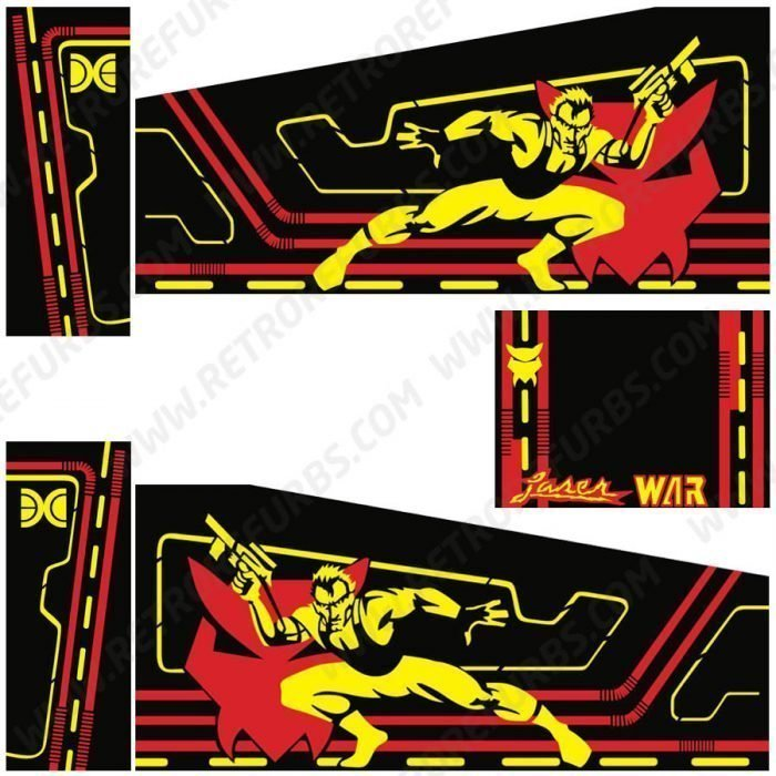 Laser War Pinball Cabinet Decals Flipper Side Art Data East