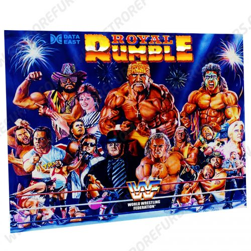 Royal Rumble Prototype Pinball Translite Flipper Backglass