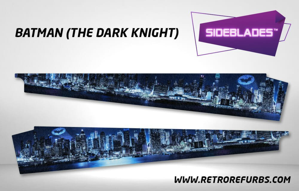 Batman The Dark Knight Pinball Side Blades Inside Art Flipper Pin Blades