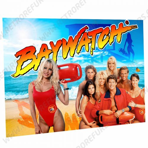 Baywatch Alternate Pinball Translite Alternative Flipper Backglass