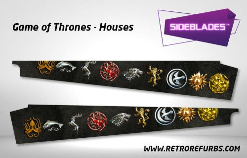 Game of Thrones Houses Pinball Side Blades Inside Art Flipper Pin Blades